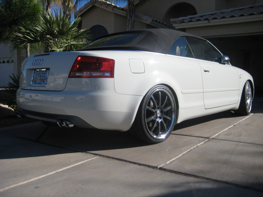 Test Fitting my 19″ Sporttechnics on an Artic White Audi S4 Cabriolet