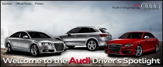 Audi Driver's Spotlight Competition on Facebook – WINNER!