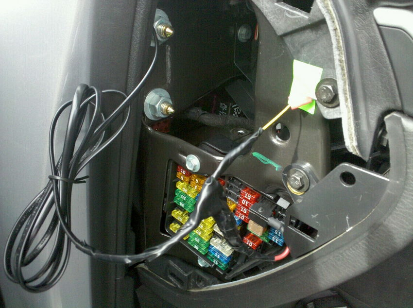 Add A Circuit Fuse Tap Install audi a4 b7 & b6 escort passport hardwire diy nick's car blog how to hardwire led lights to a fuse box at panicattacktreatment.co