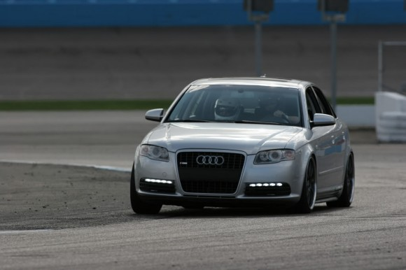 Pictures of My Audi A4 Racing at the Track!