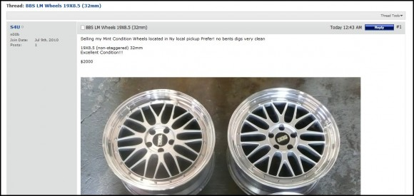 How I was almost scammed on a set of Authentic BBS LM Wheels on VWVortex…