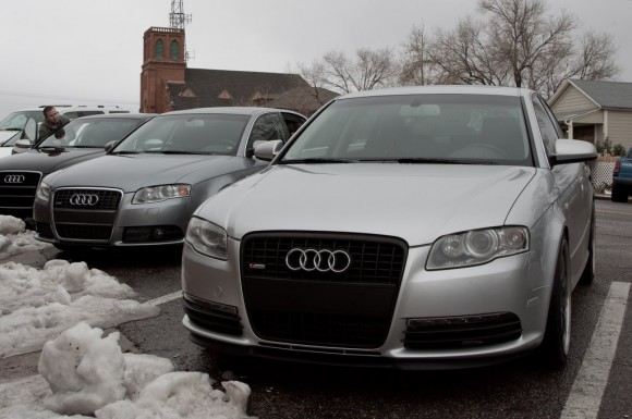 Black Audi A4 Grill