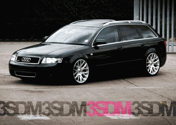 B6 Audi A4 Avant on 3SDM wheels