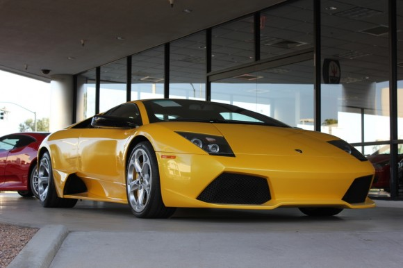 Yellow Lamborghini Murcielago LP-640