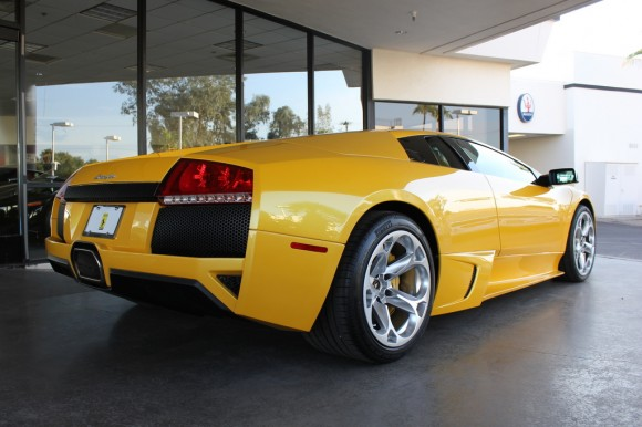 Yellow Lamborghini LP-640 Murcielago - Rear