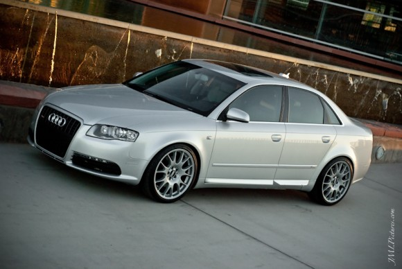 Audi A4 on BBS CH Silver Wheels
