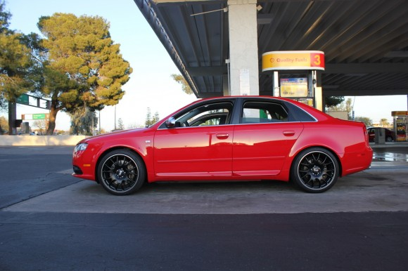 Red S4 on BBS CH Black Editions