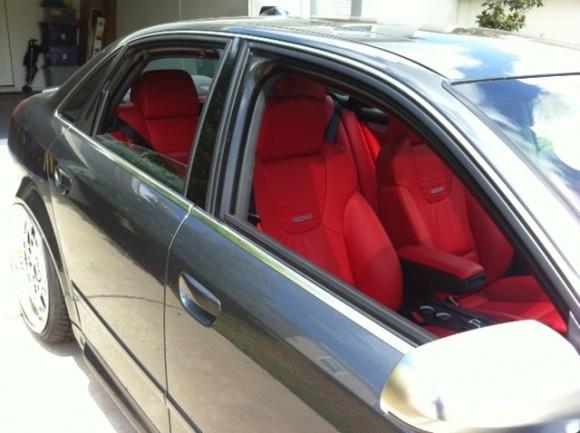 Red Recaro Audi Seats