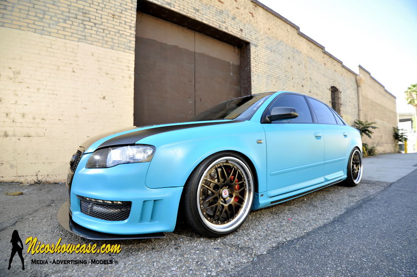 Featured Ride: Randy's Matte Turquoise B7 Audi A4 on HREs