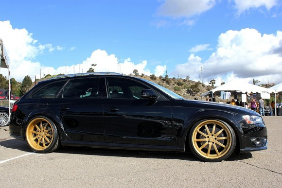 Black Allroad on Gold Wheels
