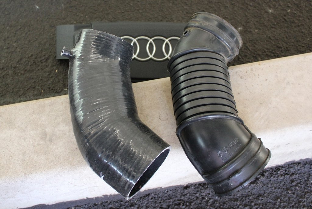 034 MAF Hose (L) versus OEM (R)