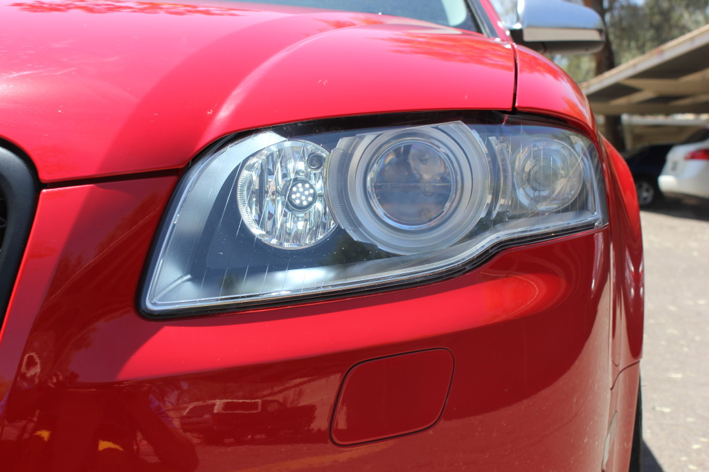B7 Audi Headlight Close-Up
