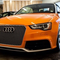 Solar Orange 2014 Audi RS5 at Prestige Imports