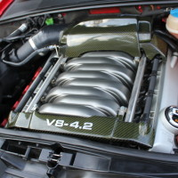 B6/B7 Audi S4 Carbon Fiber Engine Covers + R8 Oil Cap