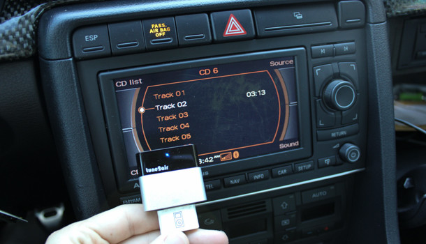 Streaming Bluetooth Music with Factory iPod Cable for Audis