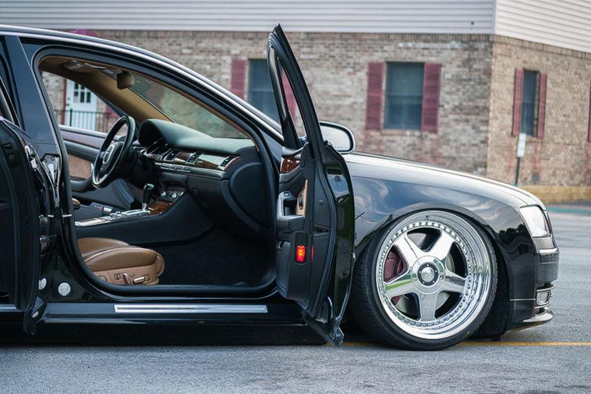 Bagged D3 Audi A8 on OZ Futura Wheels – Nick's Car Blog