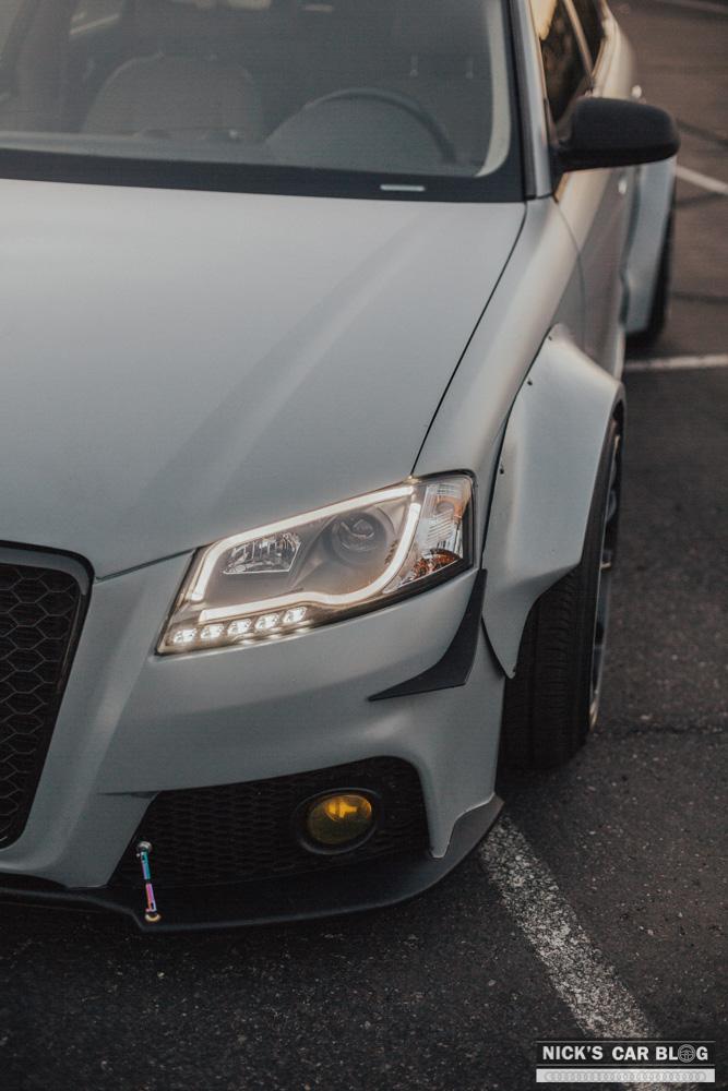 Audi A3 Vs A4 >> Insane Satin Battleship Gray Widebody Audi A3 – Nick's Car Blog