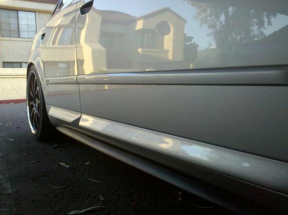 Teaser Shot Dth Fiberglass Side Skirts Nick S Car Blog