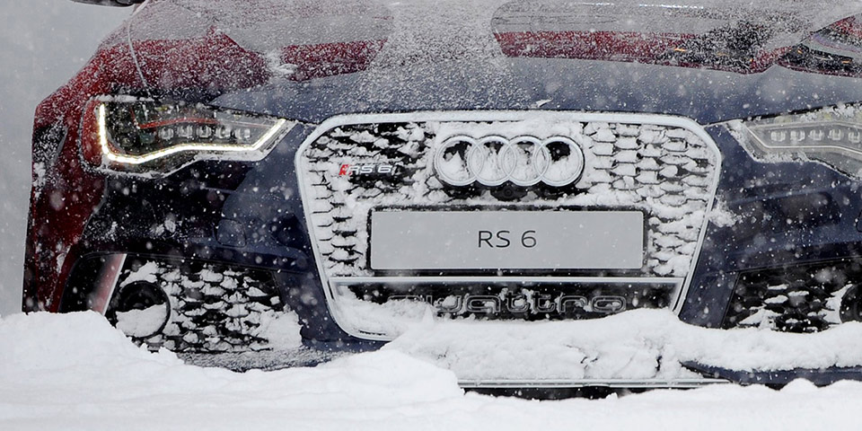 Audi RS5 Snow Driving Front - | EuroCar News